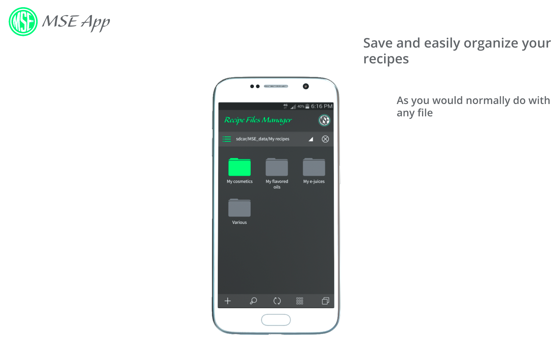 Manage your recipes files