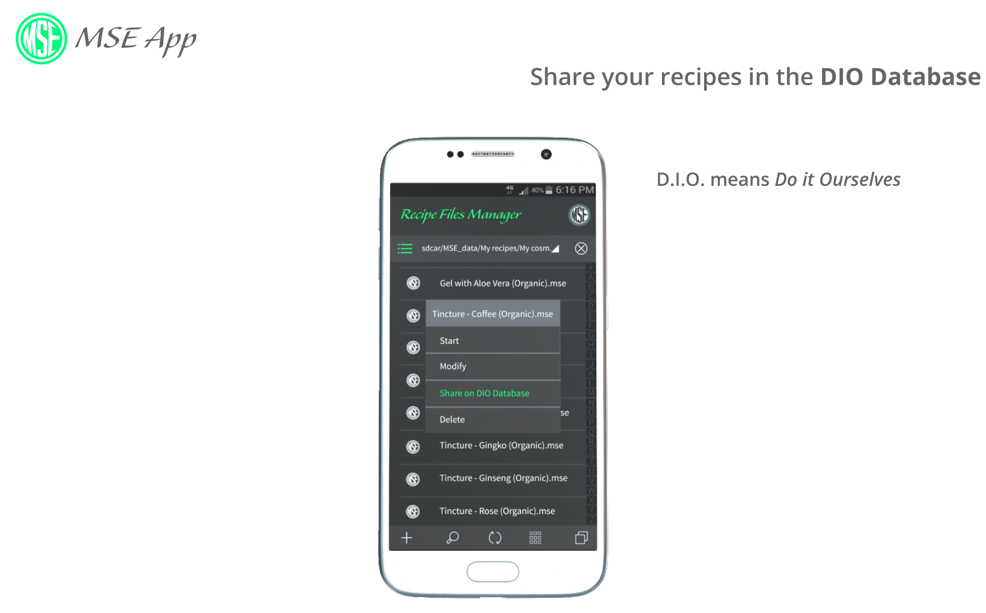 Share easily your recipes